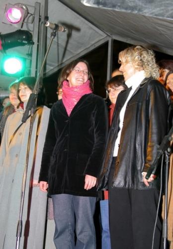 Rozsvícení stromečku v Plzni 2004